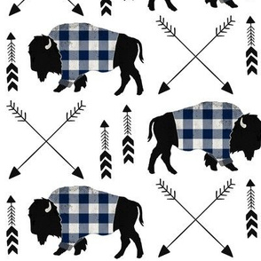 Blue buffalo plaid arrow