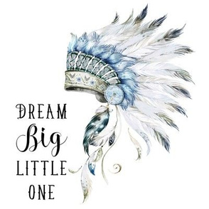 "8"" Quilting Block Dream Big Little One Boys Headdress"