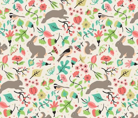 Hedgerow - Understory fabric by tracymillerdesigns on Spoonflower - custom fabric