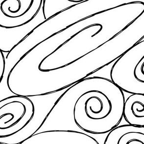 Burton's Spirals - white