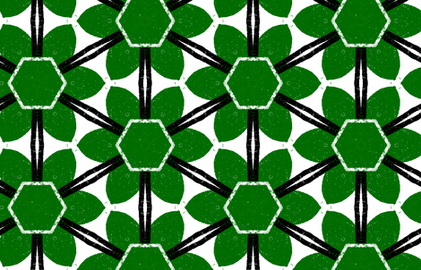 Bloom Arrangement M+M Zucchini Huge by Friztin fabric by friztin on Spoonflower - custom fabric