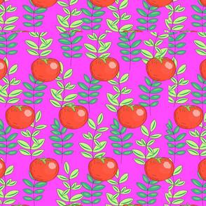 sebze desen yaprak-domat pembe