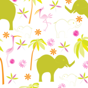 Elephants and Cranes