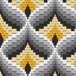 Bargello Needlepoint in Marigold