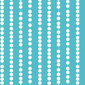 Pearl Stripes Curacao Blue