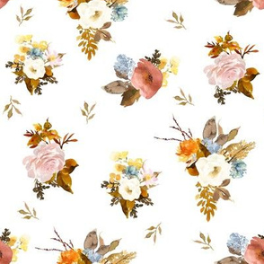 "8"" Autumn Love Mix and Match Florals"