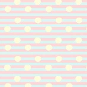 pastel stripes and polkadots