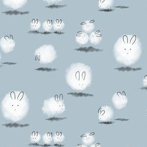 Teeny Dustbunnies in Light Blue