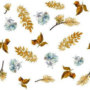 """8"""" BLUE AND GOLD FOLIAGE"""