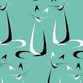 Abstract Boomerang Cats V2