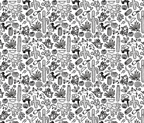Fruits of the desert fabric by craftsturbator_ on Spoonflower - custom fabric