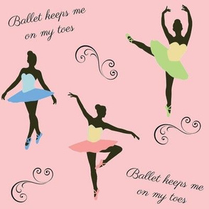 Ballet Keeps Me On My Toes on Pink