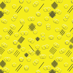 Lines and Rings Yellow BG
