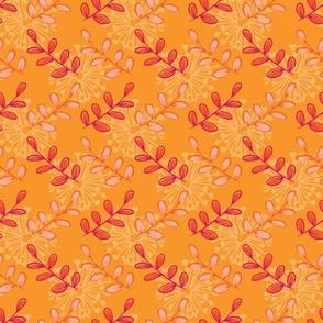 Floral orange background