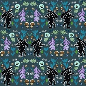 rabbits in the forest