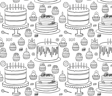 Party Party Party fabric by driessa on Spoonflower - custom fabric