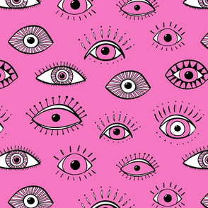 Eyes - hot pink (large scale)