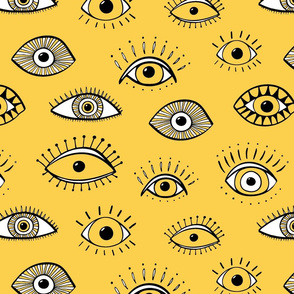Eyes - yellow and white (large scale)