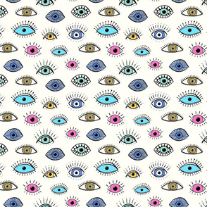 evil eye - multi colour (medium scale)