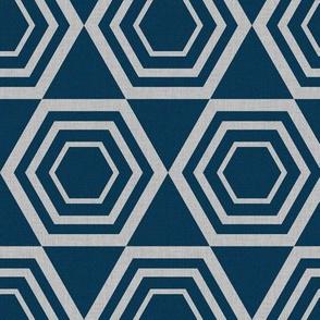 hexagons texture-blue