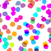 Abstract multicolored dots