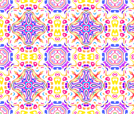 Abstract flower ornament fabric by oksi on Spoonflower - custom fabric