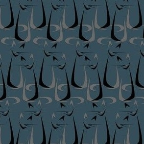 Abstract Boomerang Cats in Stripes