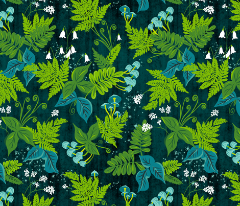 Magic Forest  fabric by heatherdutton on Spoonflower - custom fabric
