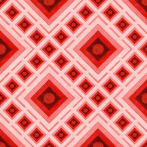 Op Art Red Squares
