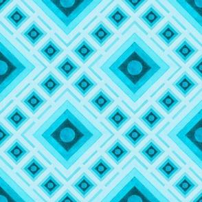 Op Art Blue Squares