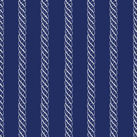 Adrift Nautical Stripe ink 2 fabric by lilyoake on Spoonflower - custom fabric