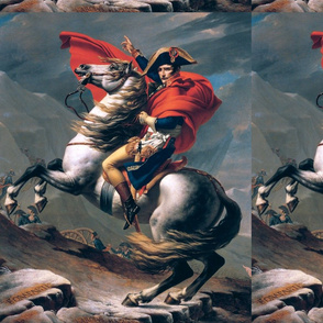 Napoleon Bonaparte  famous portraits french france emperor general military soldiers horses 18th century 19 century victorian wars battles army bicorne hat capes cannons artillery mountains clouds swords cutlass historical baroque neoclassical