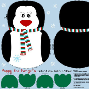 Peppy the Penguin Cut and Sew xmas