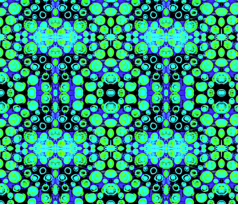 Distorted circles blues and greens fabric by tomokosart on Spoonflower - custom fabric