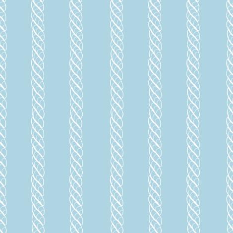 Adrift Nautical Stripe aqua 2 fabric by lilyoake on Spoonflower - custom fabric