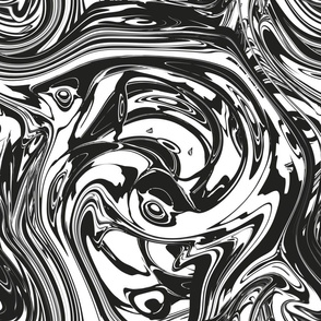 Black And White Seamless Marble