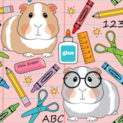 guinea-pigs at-school-on-pink