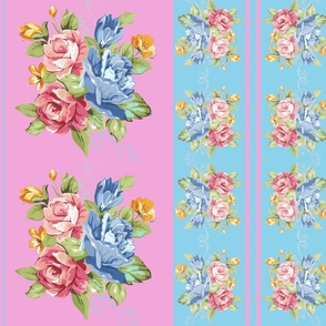 Sheila Edna 4. (Roses stripe)