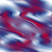 Red and Blue Abstract Waves