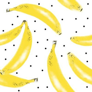 Banana bunches with dots