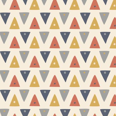Triangles fabric by rachelmacdonald on Spoonflower - custom fabric