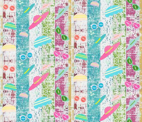 Beach ready Stripes2  Whitewash 105 fabric by drapestudio on Spoonflower - custom fabric