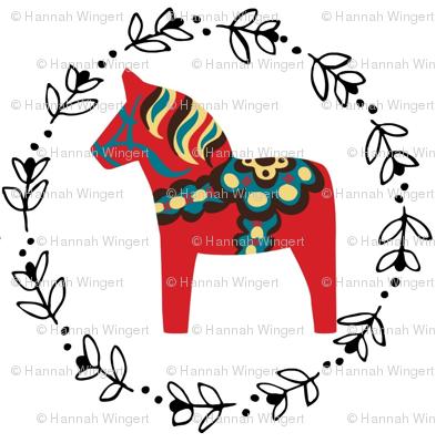 Red Dala Horses