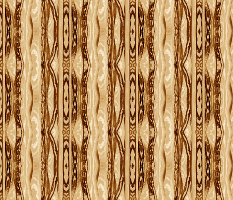 Flowing Totem in Coffee fabric by barbaramarrs on Spoonflower - custom fabric