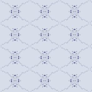 Confetti arrow in blue