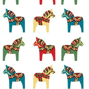 Colorful Dala Horses