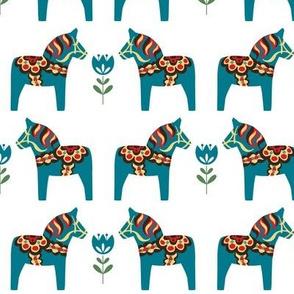 Blue Dala Horses