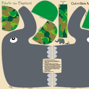 Edwin the Elephant Cut and Sew  camo