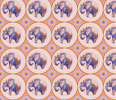 Elephants in Circles fabric by blueskitty on Spoonflower - custom fabric