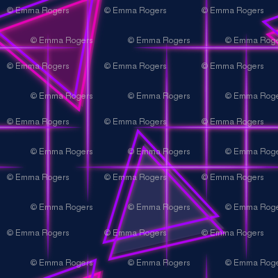 1980s neon triangles wallpaper - roofdog_designs - Spoonflower